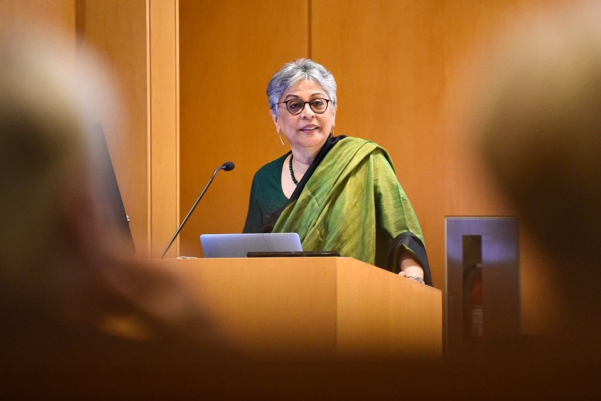 Brinda Somaya spoke about the future of architecture in her home, India, on Tuesday in Goldwin Smith Hall.