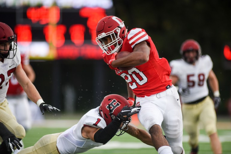 Junior running back Harold Coles rushes for for a 34-yard touchdown that brought Cornell within a single score with 7:03 left in the game.