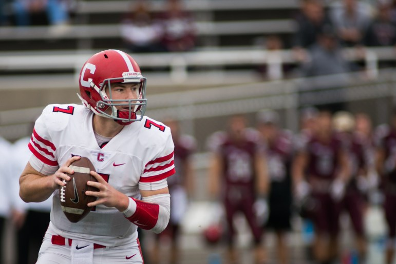 Senior quarterback Dalton Banks, then a sophomore, had a huge day in the Red's 2016 miracle win at Colgate.