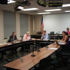 The Ithaca Common Council, pictured last year, met Thursday night for the first in a series of public hearings on the 2019 city budget.