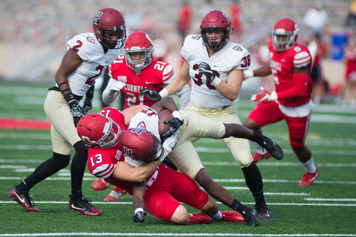 Cornell beat Harvard, 17-14, last season.