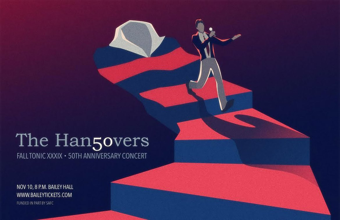 The Hangovers 50th Anniversary Concert will be held on November 10 at 8 p.m. at Bailey Hall.  150 alumni of the group are expected to attend the concert.