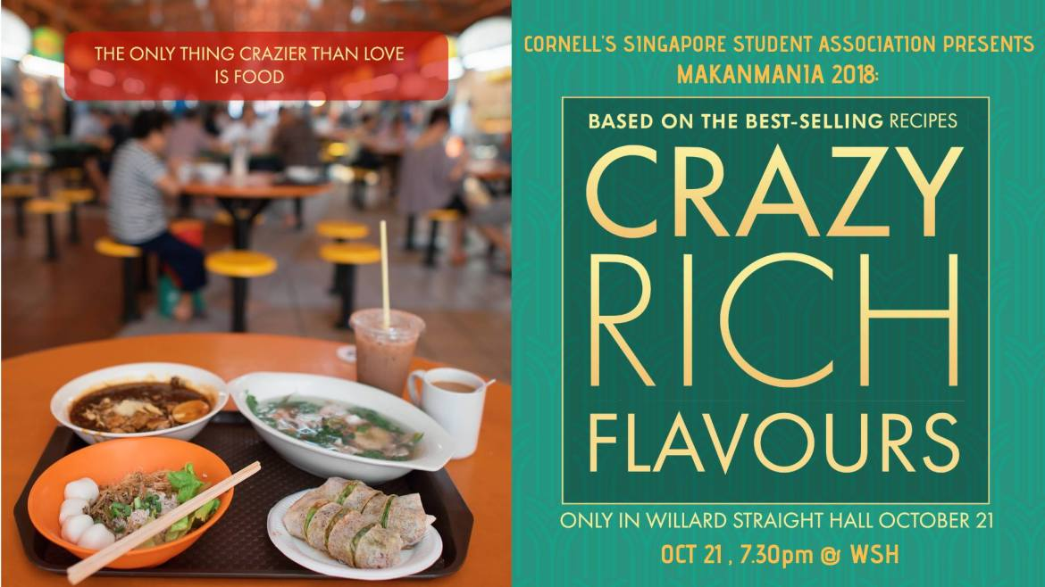 The Singapore Students Association is expecting 300 students at their Crazy Rich Flavors event. They hope to provide an opportunity for students to destress and get a taste of authentic Singaporean food.