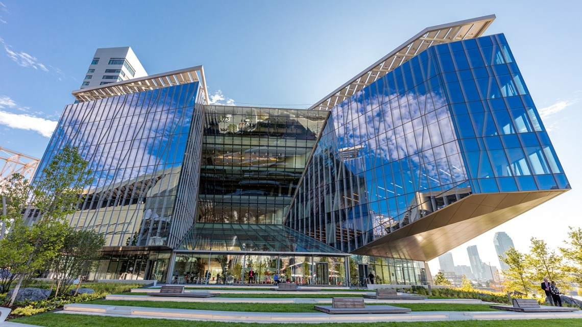 The Tata Innovation Center on Cornell Tech's campus on Roosevelt Island in New York City.