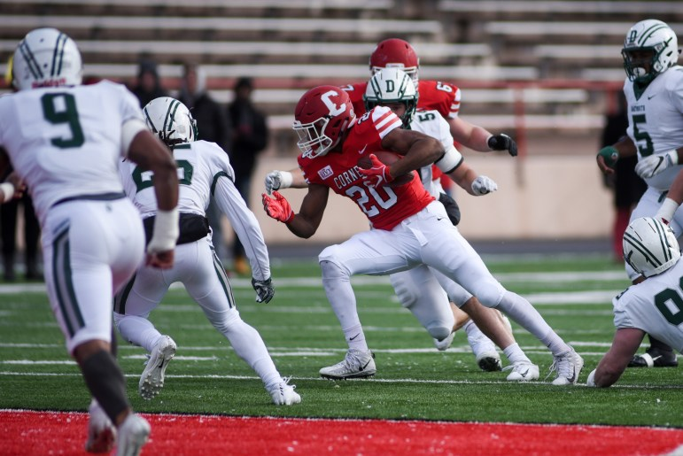 Junior running back Harold Coles had 209 yards in Cornell's loss to Columbia. It was the special teams that broke the Red.
