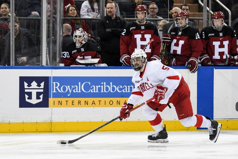 Senior defenseman and alternate captain Matt Nuttle is one of several Cornell defenseman who has seen increased scrutiny with two blueliners on the shelf.