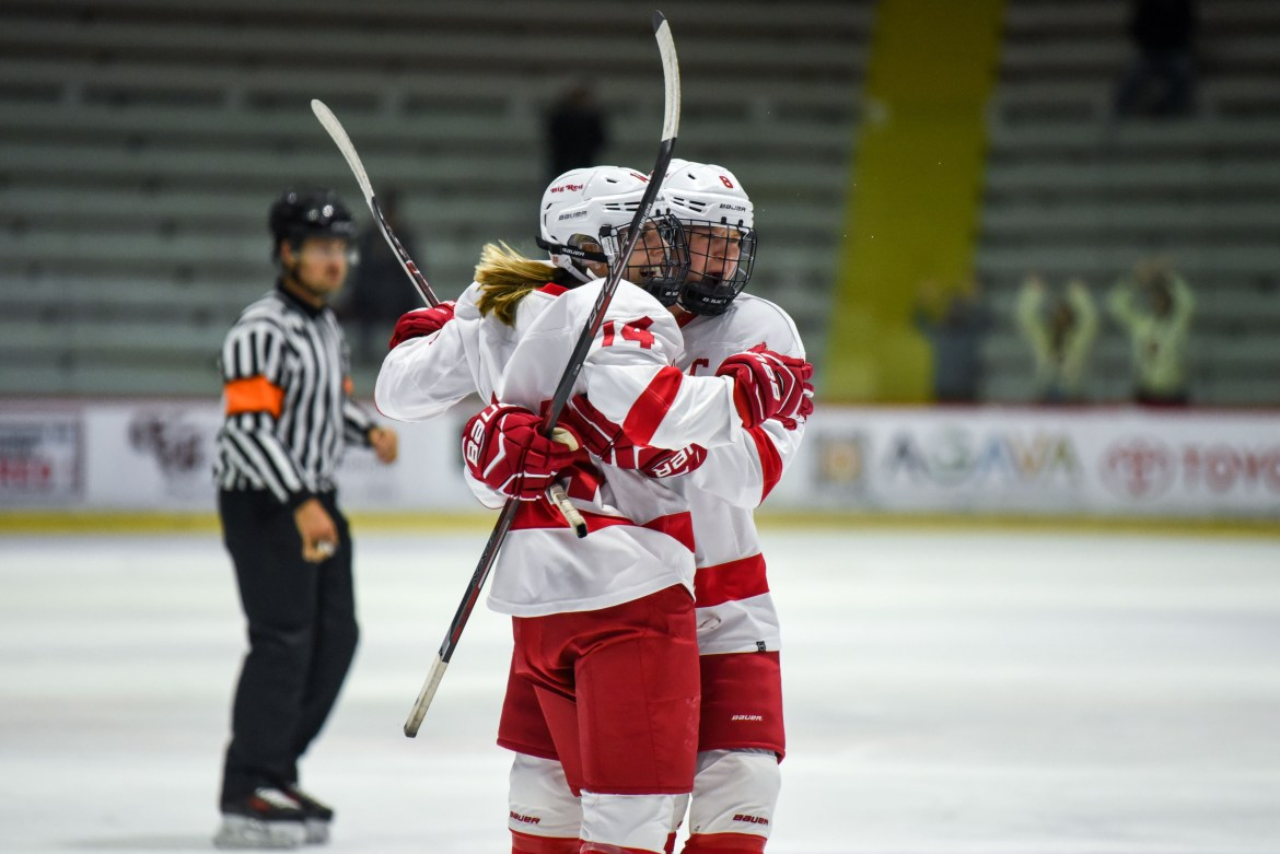 The Women's Hockey team won one and tied one this weekend outlasting Quinnipiac 2-1 and tying Princeton 2-2.