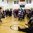 Tracy Mitrano rally at Southside Community Center on October 29th, 2018. (Boris Tsang / Sun Assistant Photography Editor)