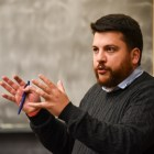 Leonid Volkov, chief of staff for Alexei Navalny, the leader of the Russian opposition, spoke about politics in his country at Olin Hall on Tuesday.