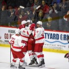 Cornell used three second-period goals to beat Brown on Saturday.