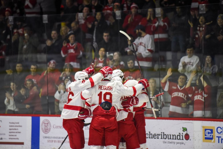 Cornell celebrated goals early, but not enough scoring late squandered the efforts.