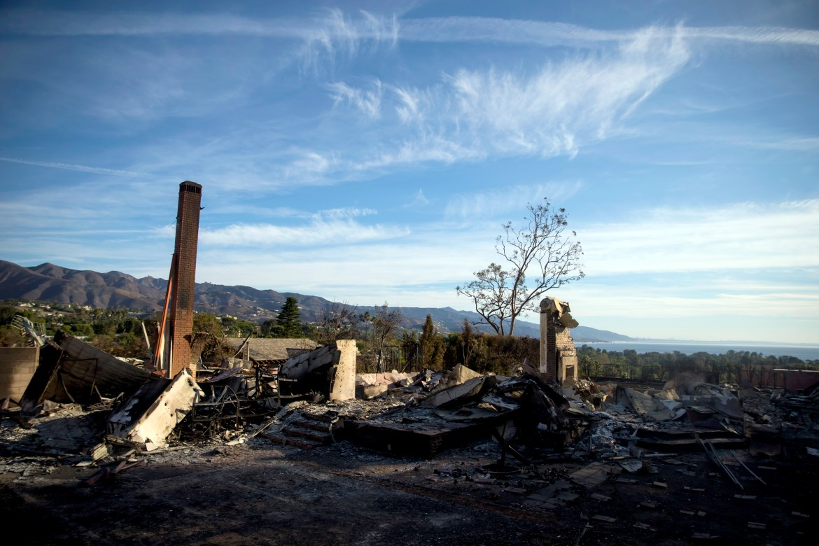 The Woolsey Fire destroyed homes in areas like the Point Dume section of Malibu, Calif., shown on Nov. 13.