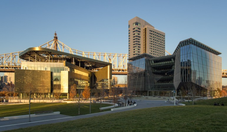 A view of the Cornell Tech campus on Roosevelt Island.