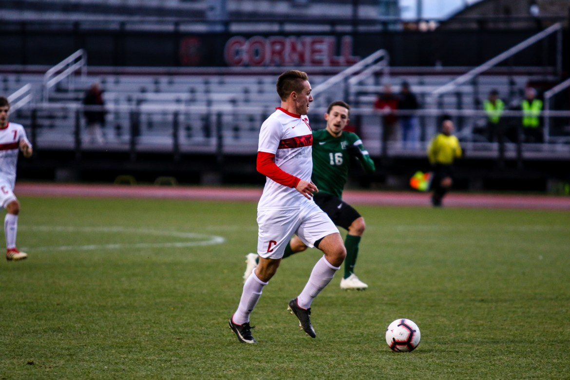 Freshman midfielder Jonah Kagen scored the Red's lone goal of the night,