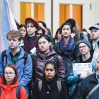 Students rally to support the transgender, gender nonconforming and gender nonbinary community.