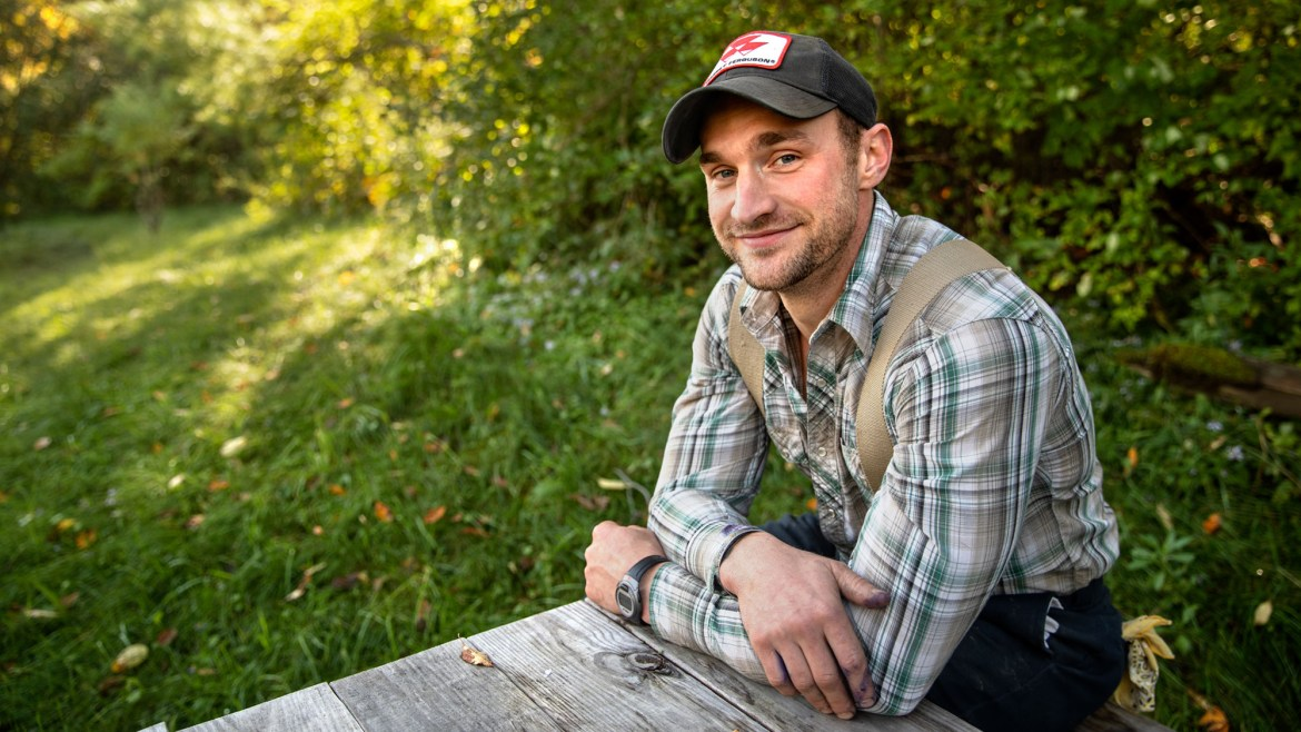 Former Staff Sgt. Logan Yarbrough improved his goat farm through the Cornell Farm Ops program for veterans.
