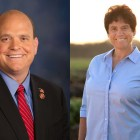 Left: Rep. Tom Reed (R-N.Y.); Right: Tracy Mitrano J.D. '95