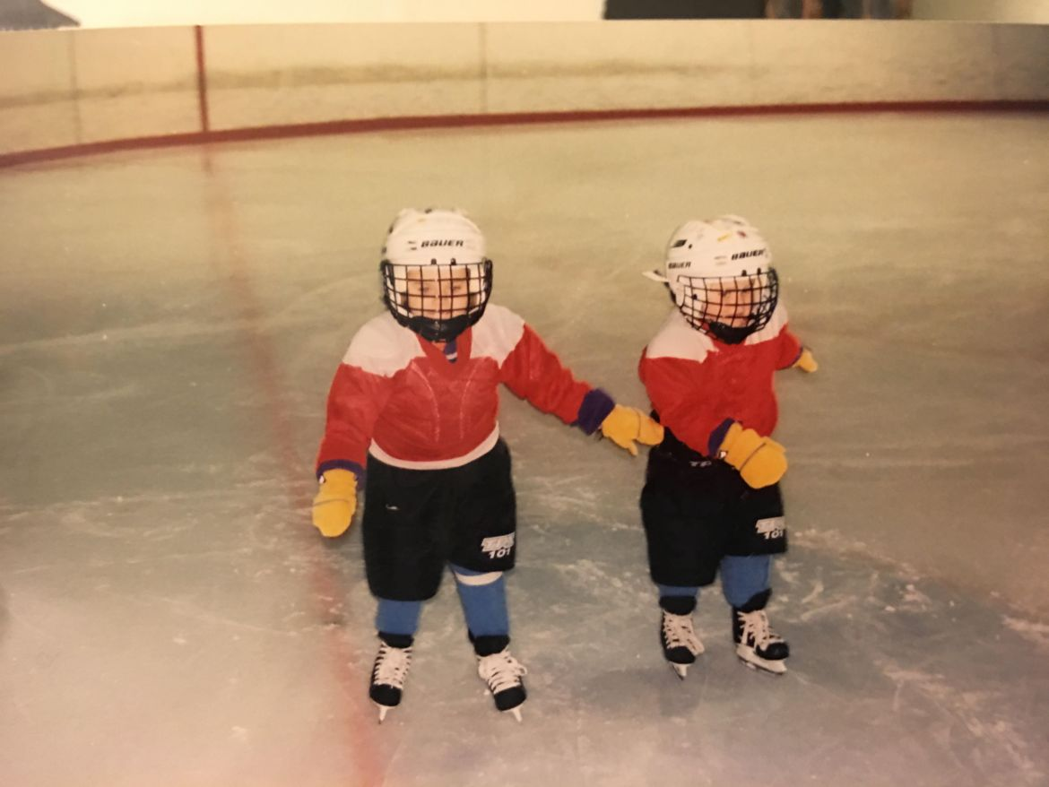 The Frechette sisters were drawn to hockey from a young age.
