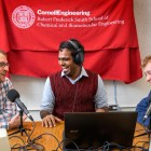 Joseph Brown grad, Aravind Natarajan grad and Kevin Weyant grad are the co-founders of the Science Blender podcast, which has been downloaded more than 1000 times in 24 nations.