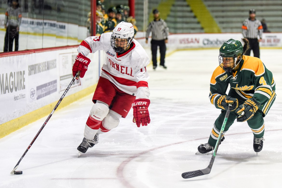 Colgate ended Cornell's season in heartbreaking fashion in the ECAC playoffs last year.