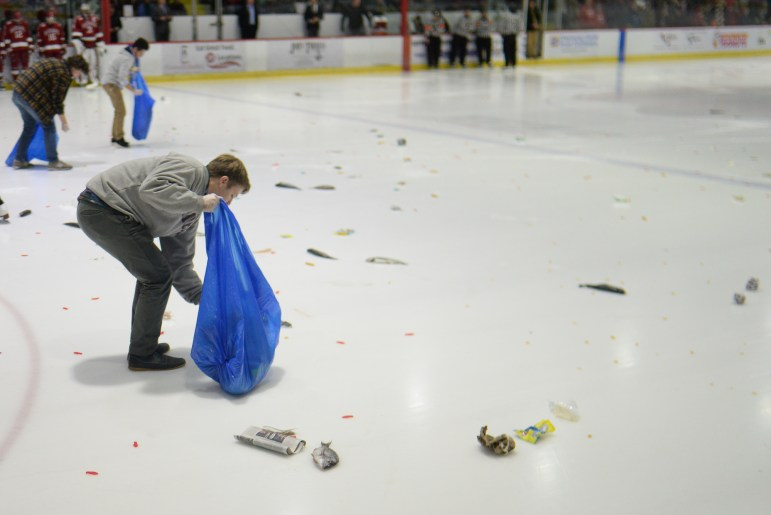 Things are likely to get fishy on Friday at Lynah Rink.