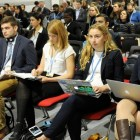 Cornell students and staff attend a session at the international climate change summit COP24