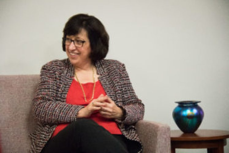 Cornell President Martha E. Pollack, pictured here in November, came under criticism in 2014 when the University of Michigan remained open despite a wind chill warning similar to the one issued for Ithaca on Thursday.