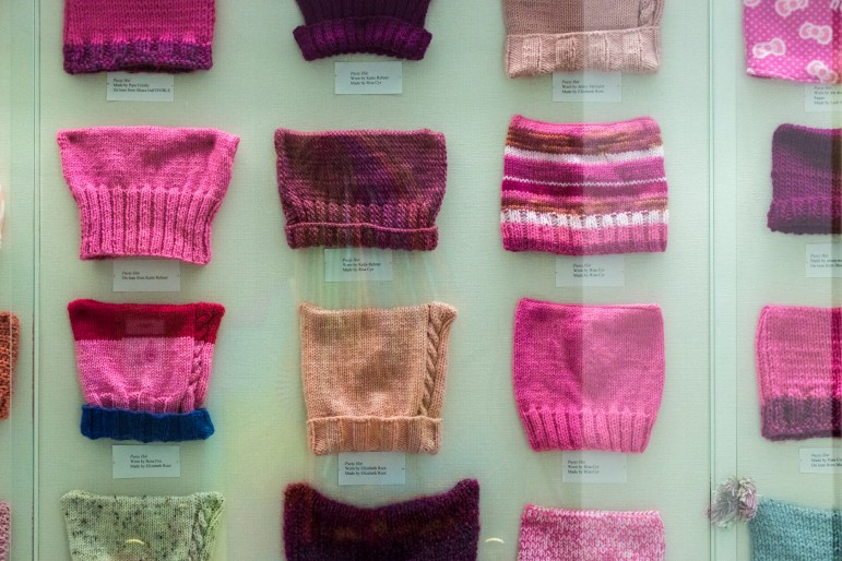 """""""Women Empowered: Fashions from the Frontline,"""" an exhibit from the Cornell Costume and Textile Collection, features fashion items women have worn as a means of female empowerment. (Anant Sriram / Sun Staff Photographer)"""