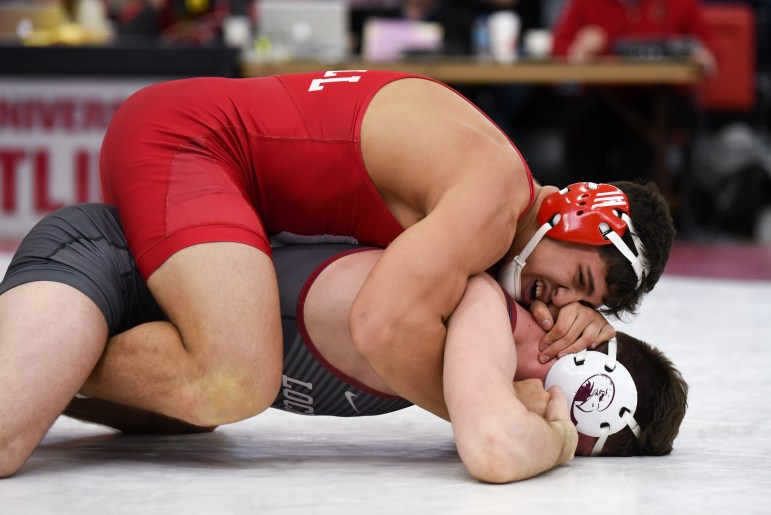 The Red has six nationally-ranked wrestlers, two of whom are undefeated.