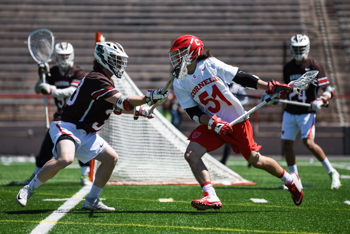 Jeff Teat had six goals in Cornell's 19-16 win over Hobart.