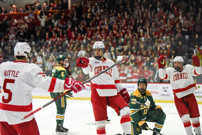 Jeff Malott had two goals in Cornell's convincing 5-0 win.