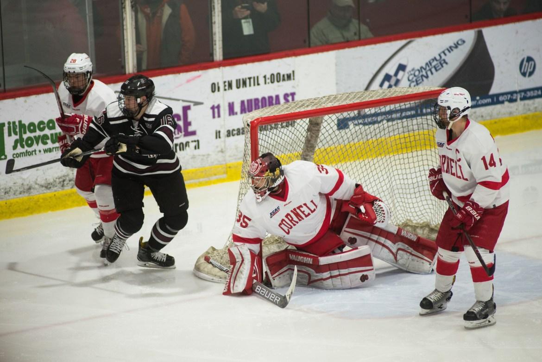 Matt Galajda earned his second shutout of the season in Cornell's 4-0 win.
