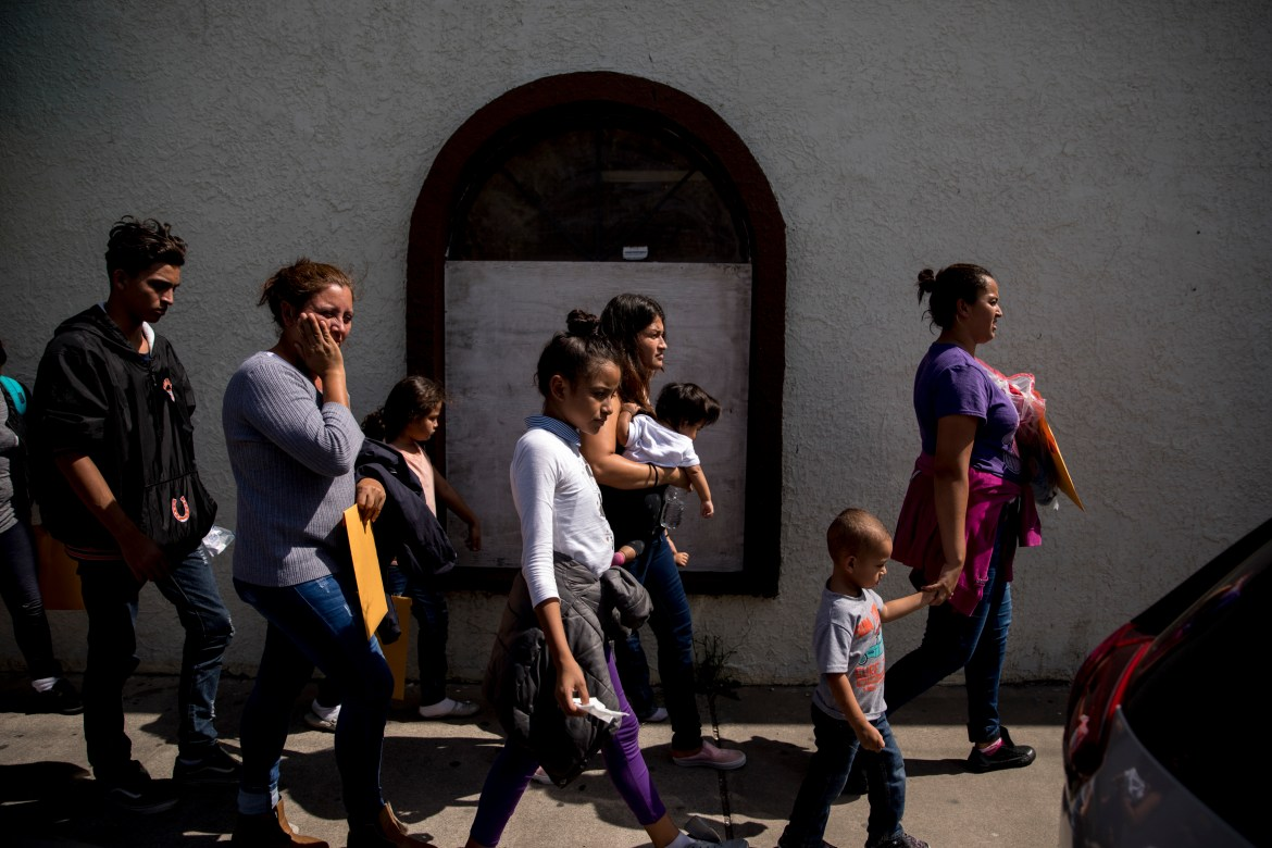 Undocumented immigrant families are dropped off at a bus station after being released by Immigration and Customs Enforcement in McAllen, Texas, July 2, 2018. Undocumented Latino families are complex, a new Cornell study says.