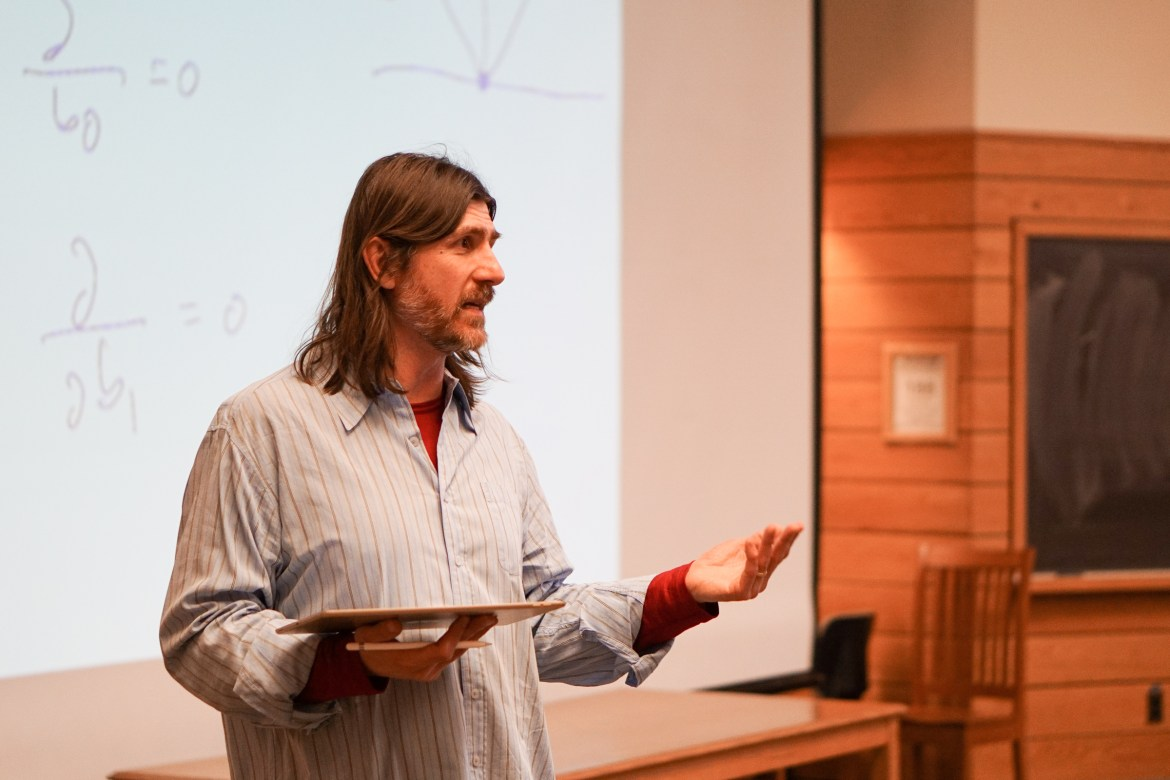 Professor McKee utilizes the active learning initiative in Economics 3120: Applied Econometrics lecture.