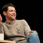 "Max Greenfield, an Emmy- and Golden Globe-nominee, spoke about his journey as an actor, his role as Schmidt on ""New Girl"" and his Jewish identity at Bailey Hall Saturday evening. (Ben Parker / Sun Staff Photographer)"