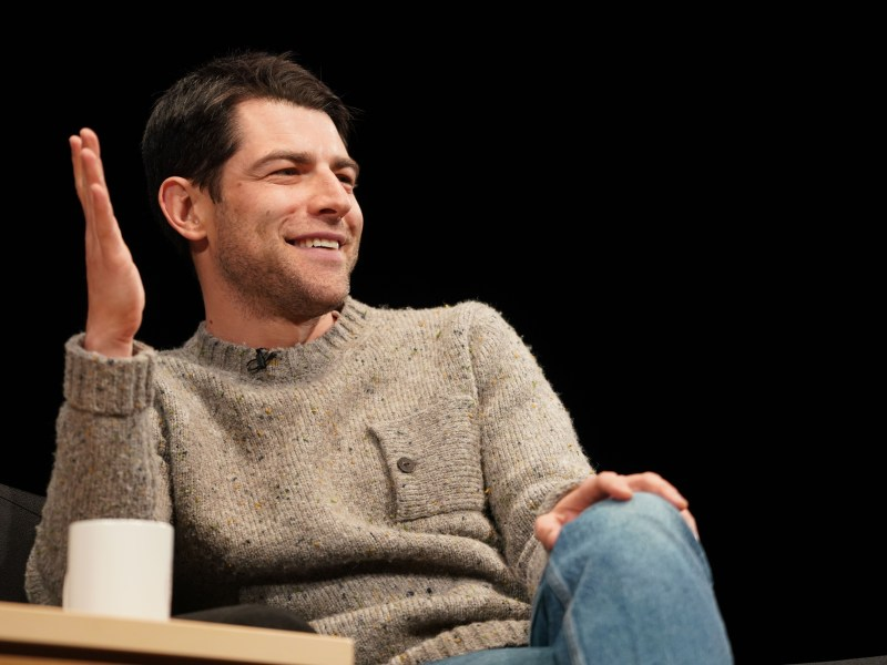 """Max Greenfield, an Emmy- and Golden Globe-nominee, spoke about his journey as an actor, his role as Schmidt on """"New Girl"""" and his Jewish identity at Bailey Hall Saturday evening. (Ben Parker / Sun Staff Photographer)"""