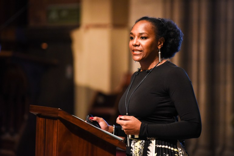 Bree Newsome, the civil rights activist who rose to fame after scaling a flagpole at the South Carolina statehouse to remove a Confederate flag, spoke at Cornell on Monday.