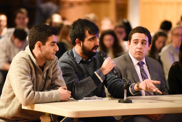 "Thursday's Student Assembly meeting featured a ""teach-in"" about the Boycott, Divestment and Sanctions movement, led by Cornellians for Israel and Students for Justice in Palestine. (Boris Tsang / Sun Photography Editor)"