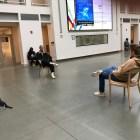 Alexander Schaef '20 and Michael Gildersleeve '21 perform in Klarman Hall