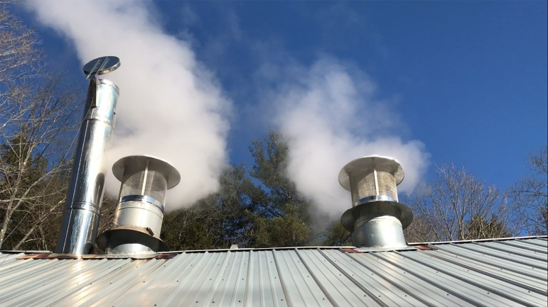 Steam from Arnot Sugarhouse
