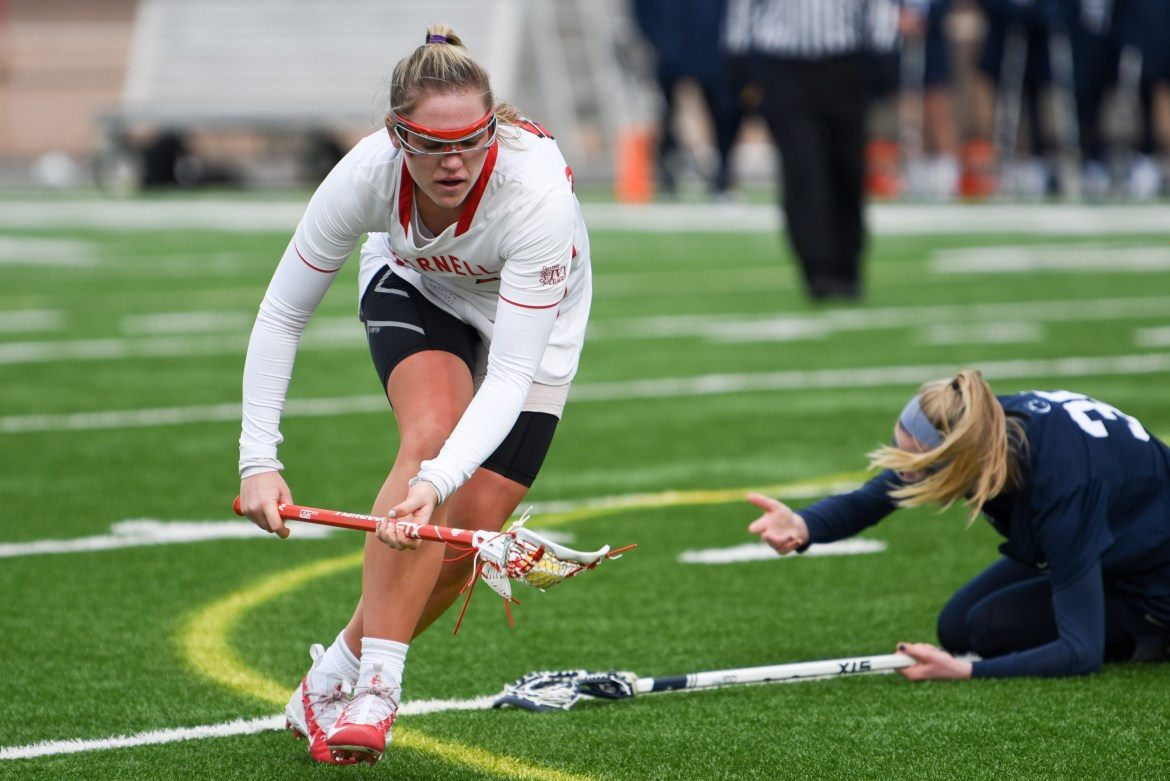 Despite its comeback attempt in the second half, Cornell women's lacrosse couldn't close the deficit and best Stony Brook.