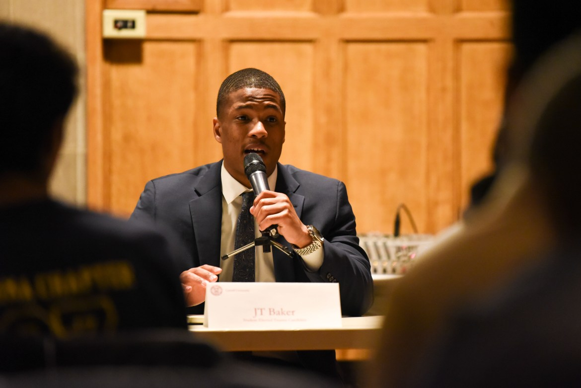 JT Baker '21 was disqualified from the student-elected trustee election due to emails sent by the athletic department.