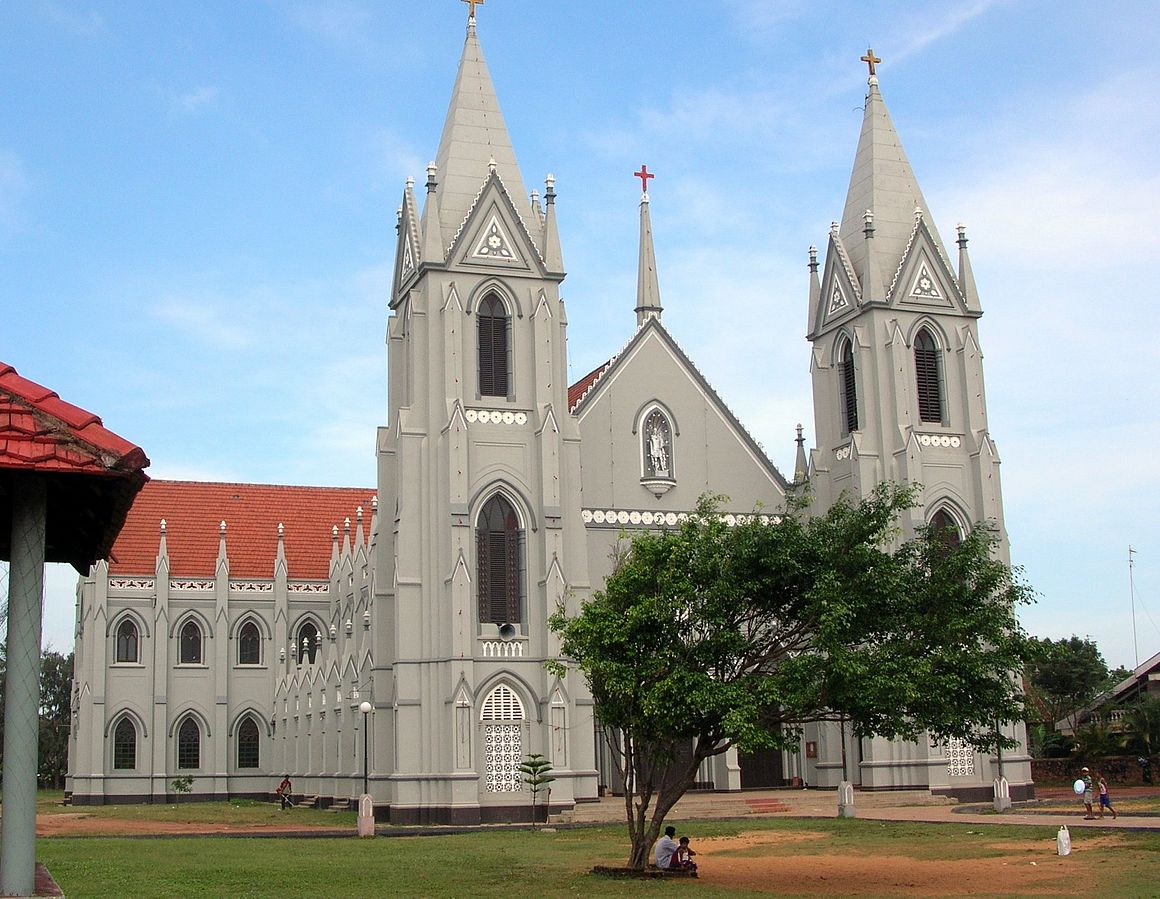 St. Sebastian's Church in Negombo, Sri Lanka, the site of bombings on Easter Sunday.