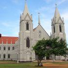 St. Sebastian's Church in Negombo, Sri Lanka, the site of bombings on Easter Sunday.