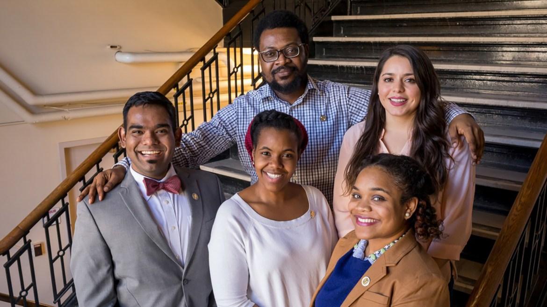 Among Cornell's 2019 Bouchet scholars are Elaigwu Ameh grad, Lory Henderson grad, Marysol Luna grad, Aravind Natarajan grad and Monet Roberts grad.