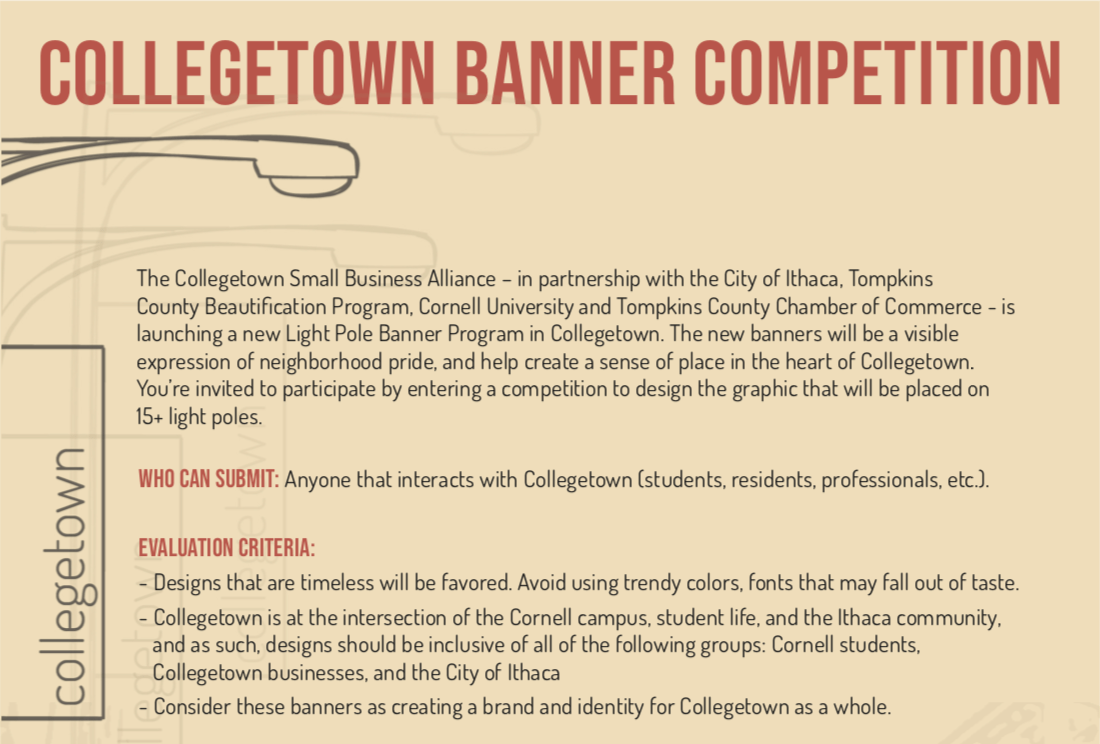Submissions for the Collegetown Banner Competition will be open until April 16 at 11:55pm.