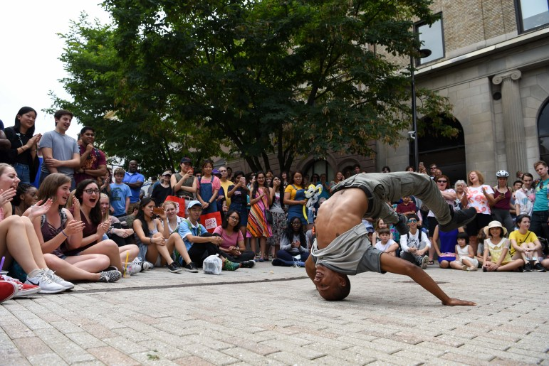 On September 7, hop on the bus to the Ithaca Commons for C.U. Downtown, an annual event that aims to connect new students with the Ithaca community. The event features a wide range of student performances and in-store activities.