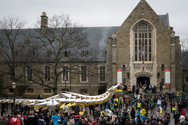 While some students opt to leave campus a day or two early for spring break, there's a good reason not to: Dragon Day typically falls on the Friday before break. In a tradition that dates back over 100 years, the first-year architecture students design and construct a dragon from scratch, and the final product is paraded across campus.