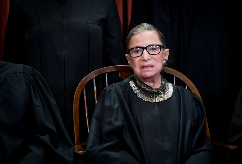 Justice Ruth Bader Ginsburg '54 recently underwent treatment for a tumor.
