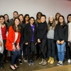 W.E. Cornell's inaugural cohort, along with founder, Prof. Andrea Ippolito.